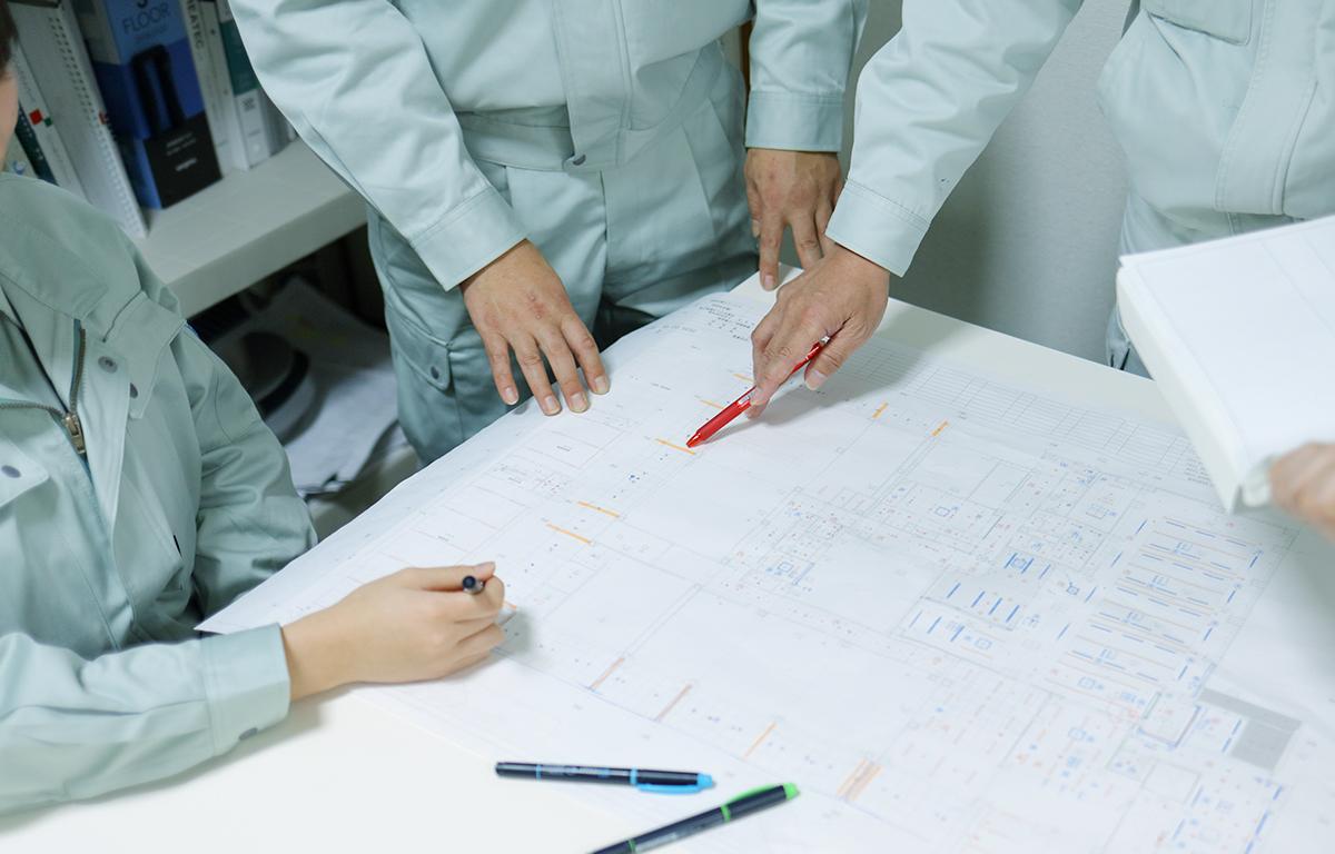 工事に携わる多くの社員が有資格者